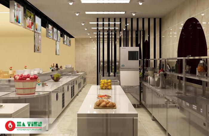 Mẫu thiết kế bếp công nghiệp nhà hàng