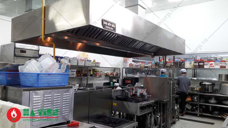 khu nấu bếp nhà hàng