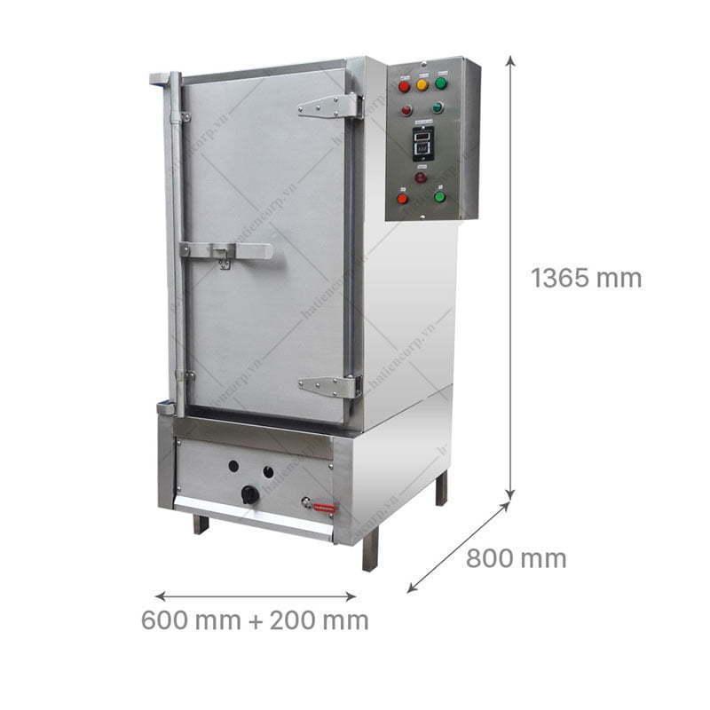 kích thước tủ nấu cơm công nghiệp 50kg