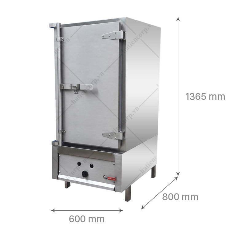 Kích thước tủ nấu cơm 50kg ga