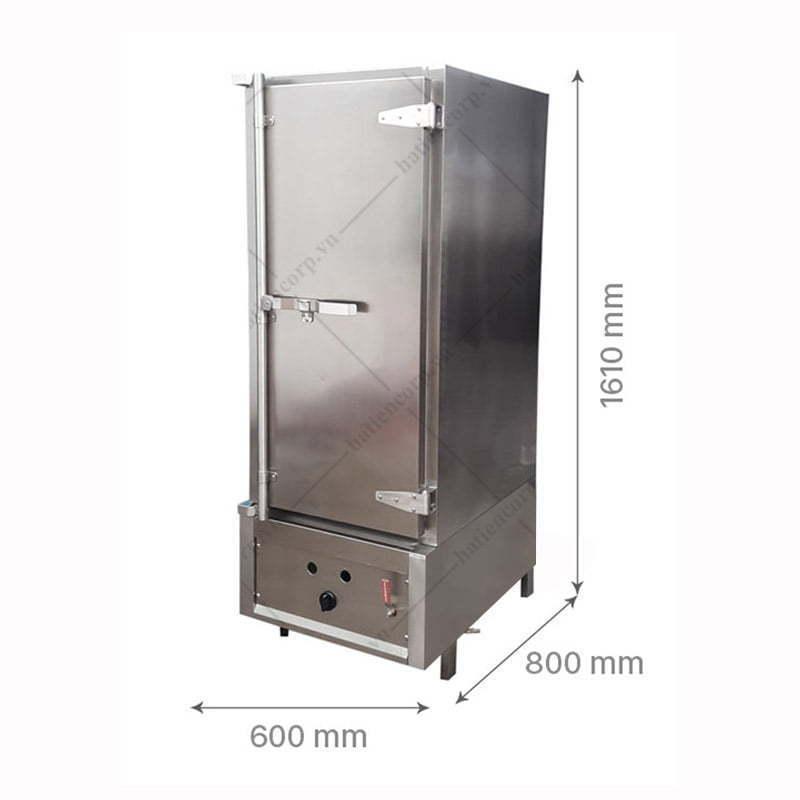 Kích thước tủ nấu cơm 70kg ga