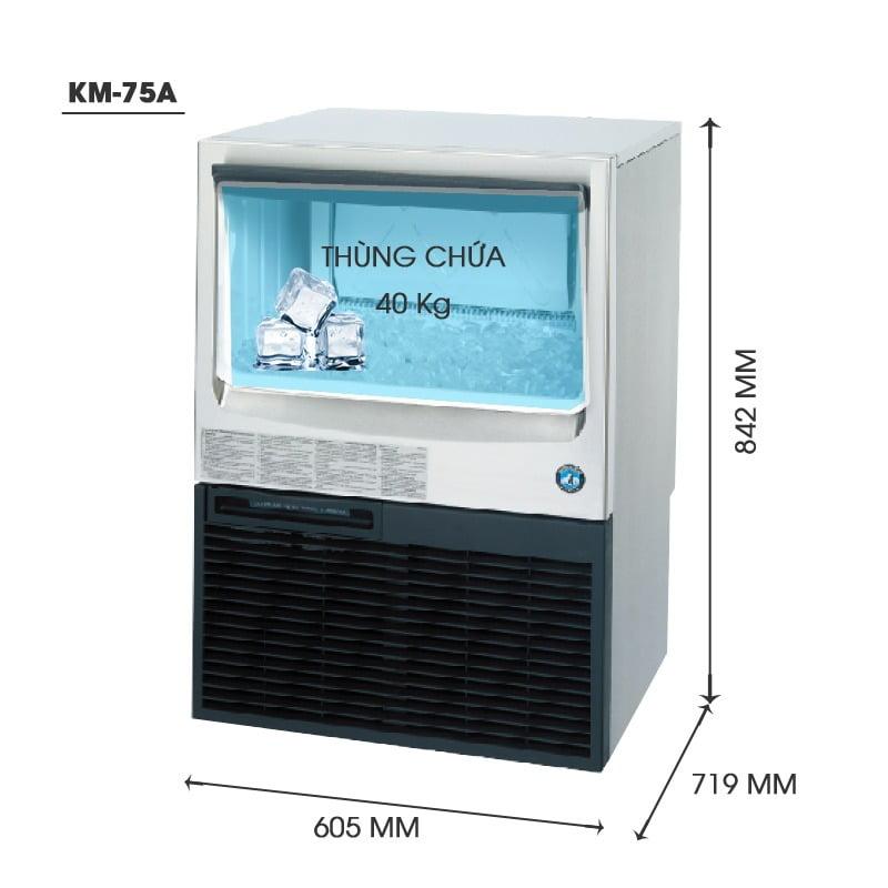 Máy làm đá viên KM-75A