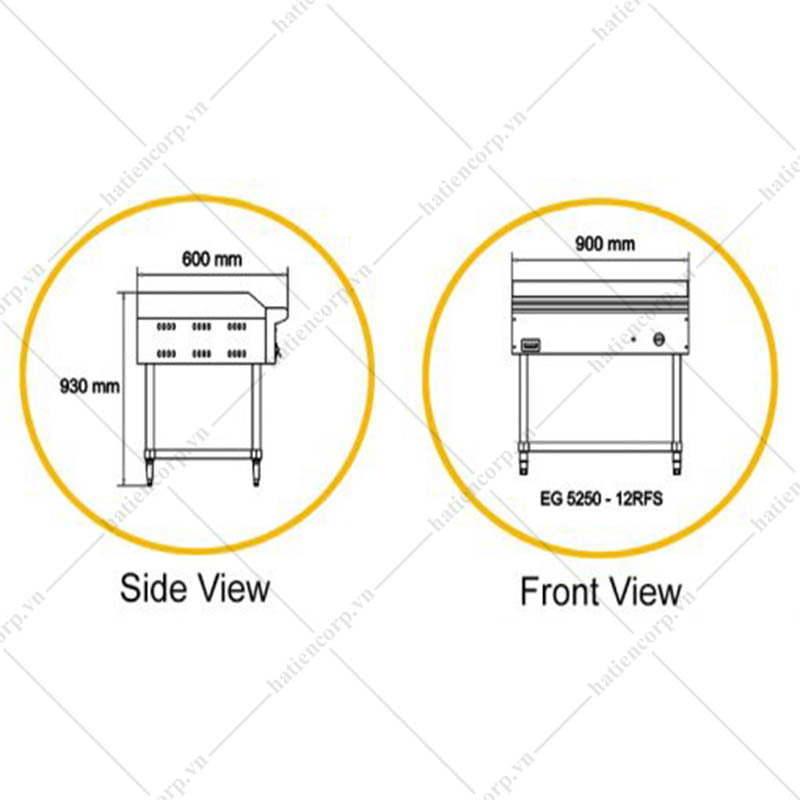 Bếp chiên phẳng bằng điện EG5250 - 12RFS ( Phân nửa rãnh sọc)