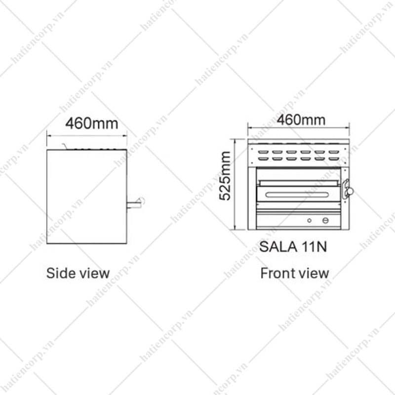 Lò nướng Salamander bằng Gas SALA 11N