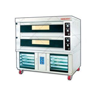 Lò nướng bánh bằng điện 2 tầng + 8 khay