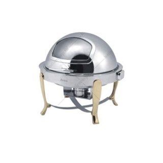 Nồi hâm nóng buffet tròn chân inox (nắp PC) - KS51363