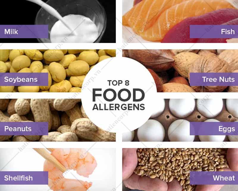 8 loại thực phẩm gây dị ứng