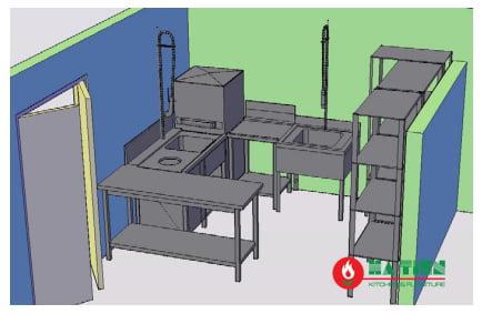 tư vấn thiết kế bếp nhà hàng khu rửa chén