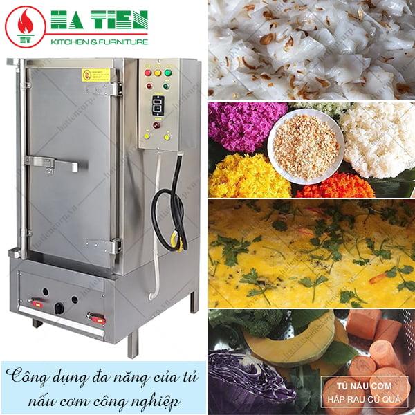 Công dụng đa dăng của tủ nấu cơm công nghiệp