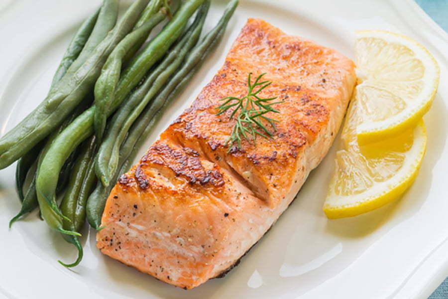 Thức ăn được chế biến từ lò hấp nướng đa năng bằng gas