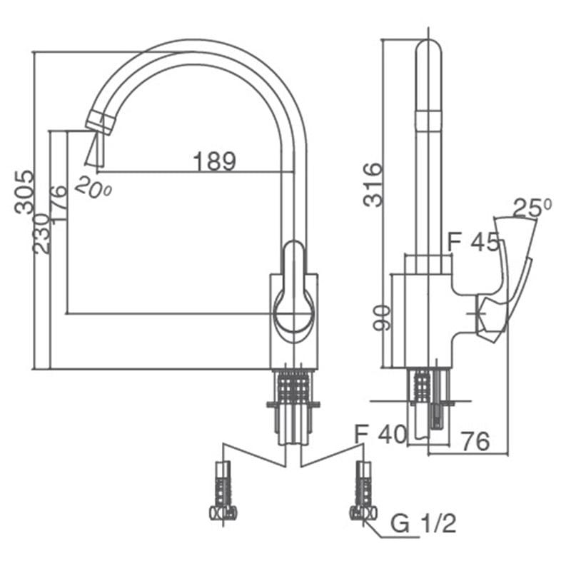 Vòi rửa bát SFV- 802S