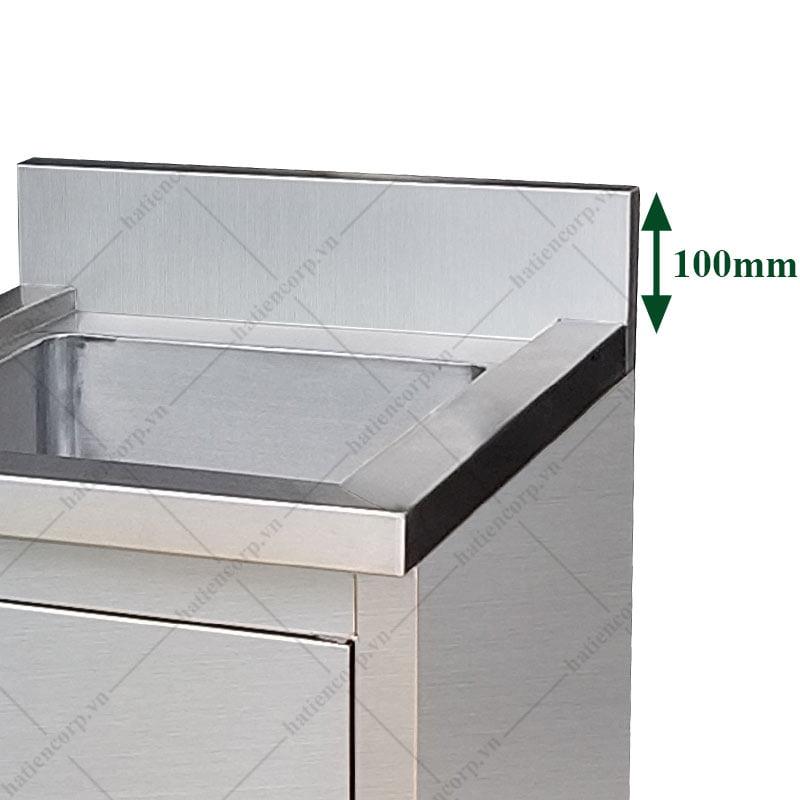 Bồn rửa chén inox đơn có cửa mở