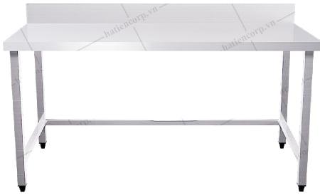 Bàn inox 1500x750x850mm có thành - Bàn inox 304 cao cấp, chất lượng cao