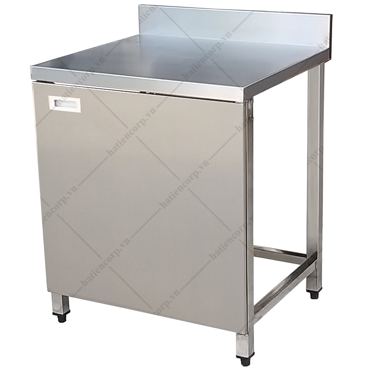 Bàn inox 700x750x850/950mm có thành có cửa mở - Bàn inox 304 cao cấp, chất lượng cao
