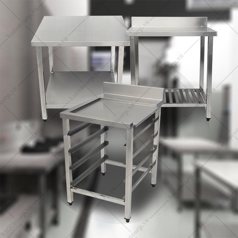Chọn thiết bị Bàn inox công nghiệp nào phù hợp và tiết kiệm với gian bếp?
