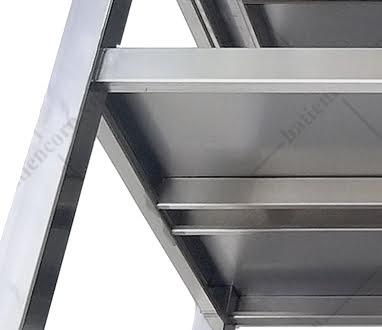 Bàn inox 2 tầng 1000x750x850/950mm kệ thanh có thành - Bàn inox 304 cao cấp, chất lượng cao