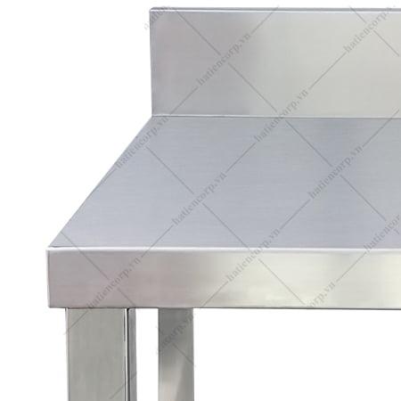 Bàn inox 3 tầng 2000x750x850/950mm có thành - Bàn inox 304 cao cấp, chất lượng cao