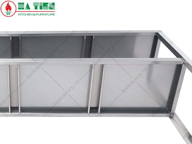Kệ inox 3 tầng 1200x300mm - Kệ phẳng inox
