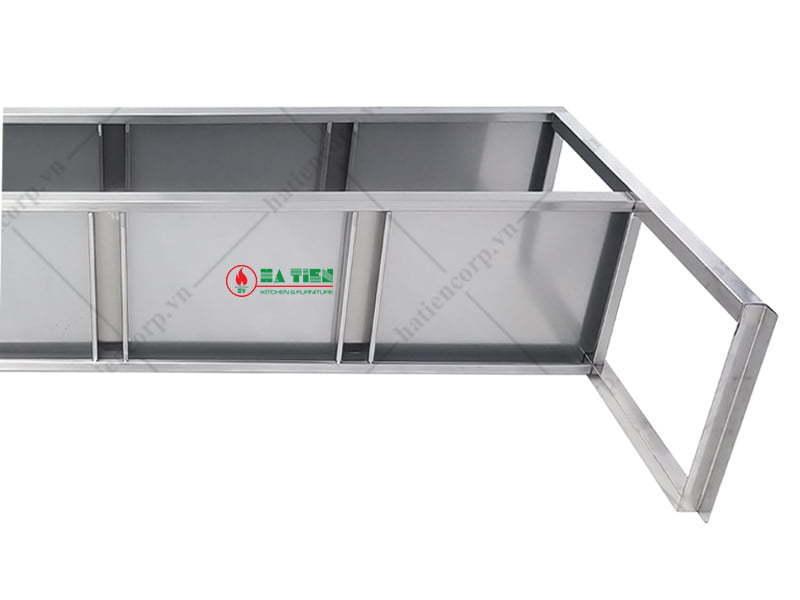 Kệ inox 2 tầng 1500x350mm - Kệ đặt trên bàn - Kệ phẳng