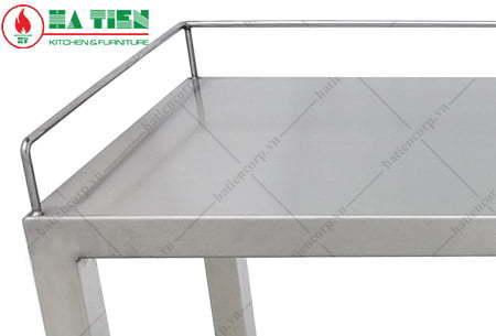 Kệ inox 1 tầng 800x300mm - Kệ đặt trên bàn - Kệ phẳng có lan can