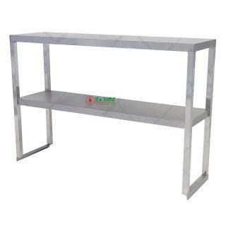 Kệ inox 2 tầng 1000x300mm - Kệ đặt trên bàn - Kệ phẳng