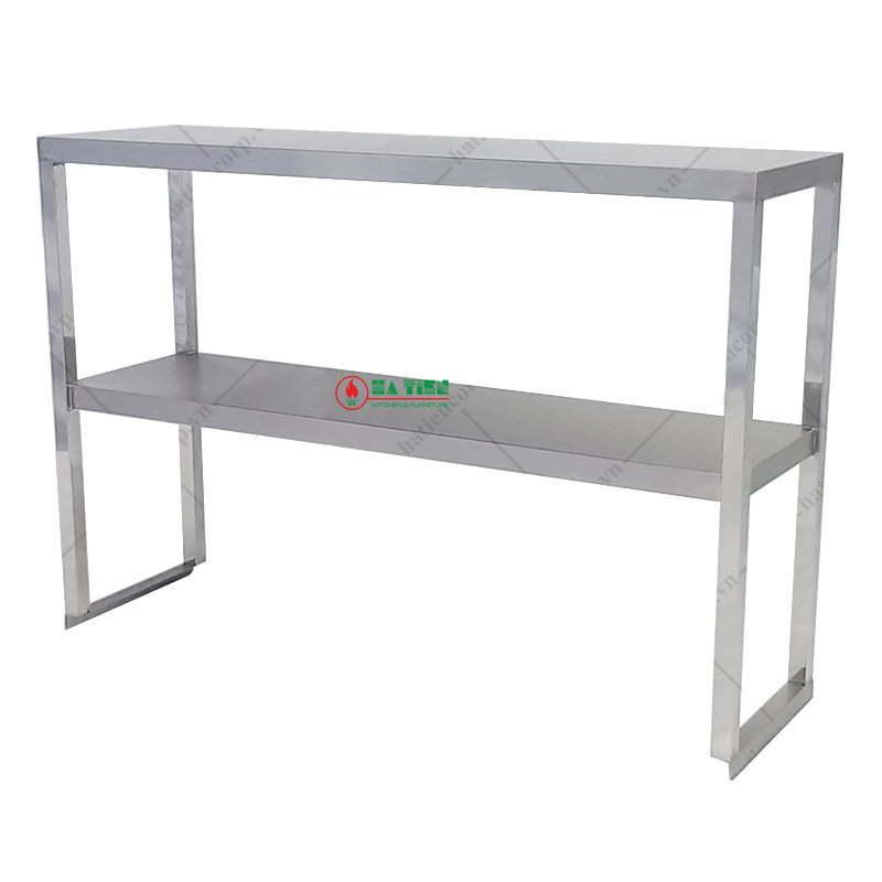 Kệ inox - Kệ phẳng 2 tầng đặt trên bàn
