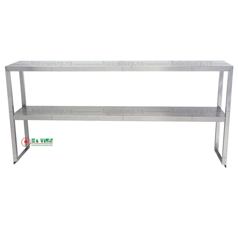 Kệ inox 2 tầng 1200x300mm - Kệ đặt trên bàn - Kệ phẳng