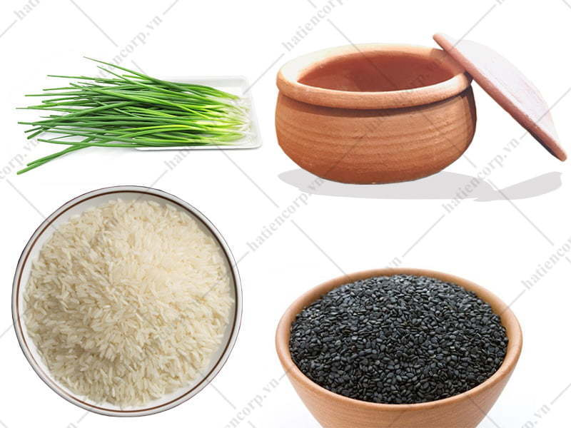 Chuản bị nguyên liệu nấu cơm niêu