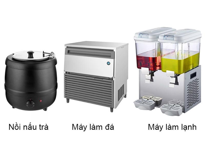 Các thiết bị cần thiết để mở quán trà sữa