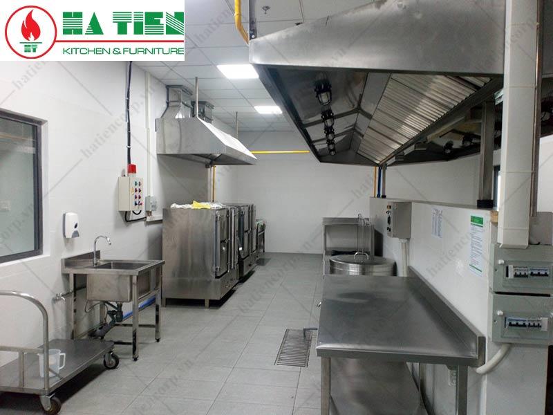 thiết kế bếp trường học: khu vực bếp nấu