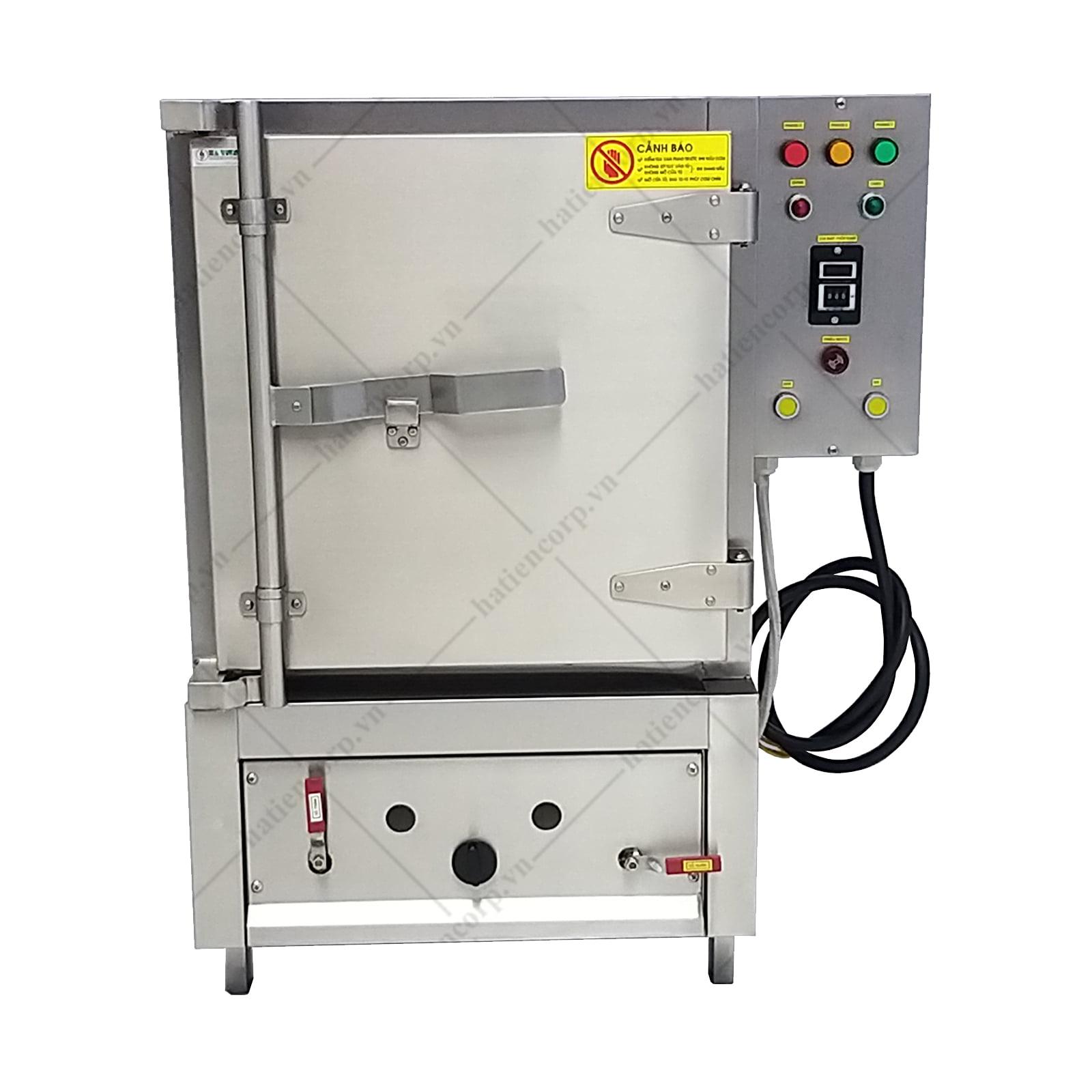 Tủ nấu cơm công nghiệp 30kg dùng gas và điện