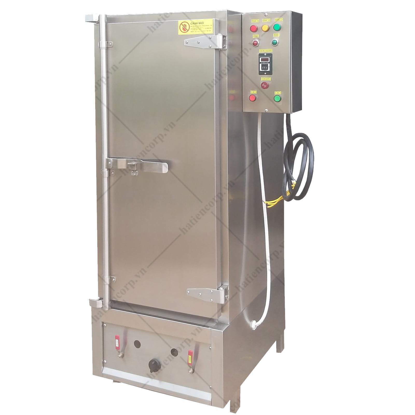 Tủ nấu cơm công nghiệp 70kg dùng gas và điện