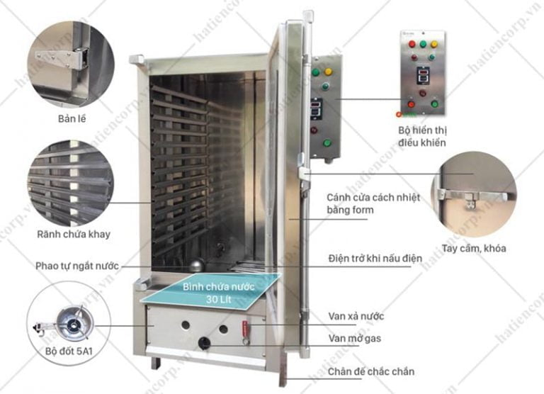 Cấu tạo tủ nấu cơm