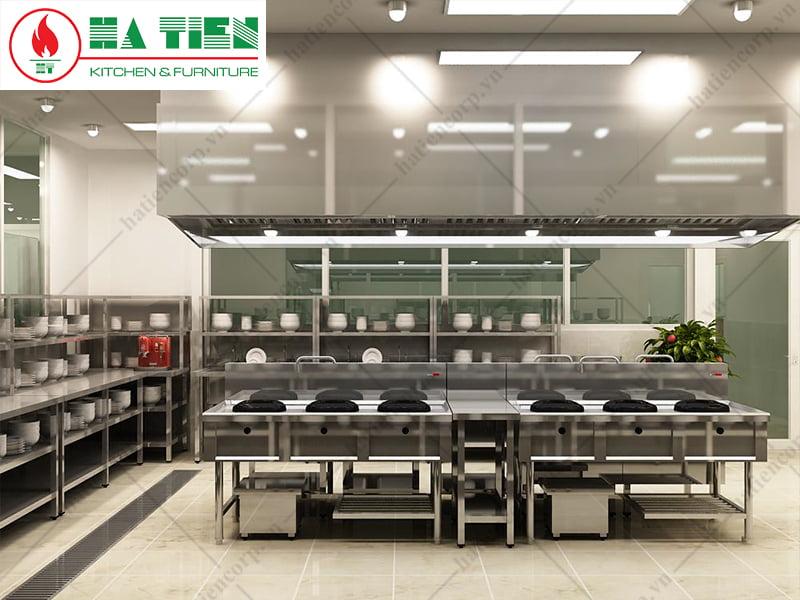 Bản vẽ 3D bếp trung tâm Niso