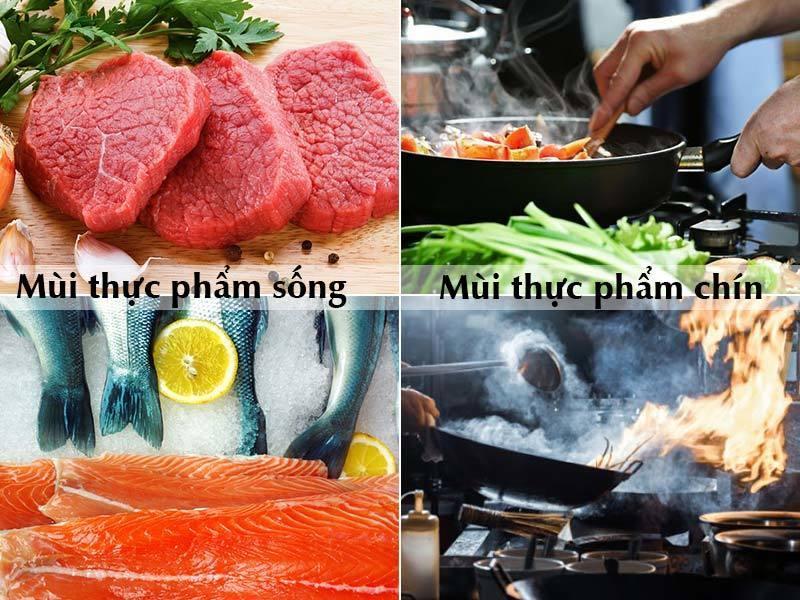 Hệ thống hút mùi giúp hút mùi thực phẩm trong khu bếp