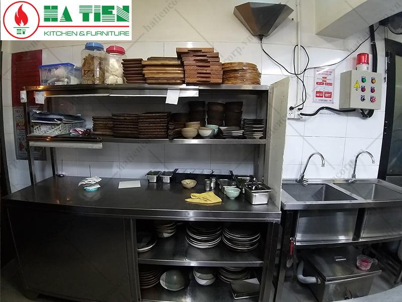 Thiết kế bếp hiện đại - Nhà hàng cafe RuNam Bistro Đồng Khởi
