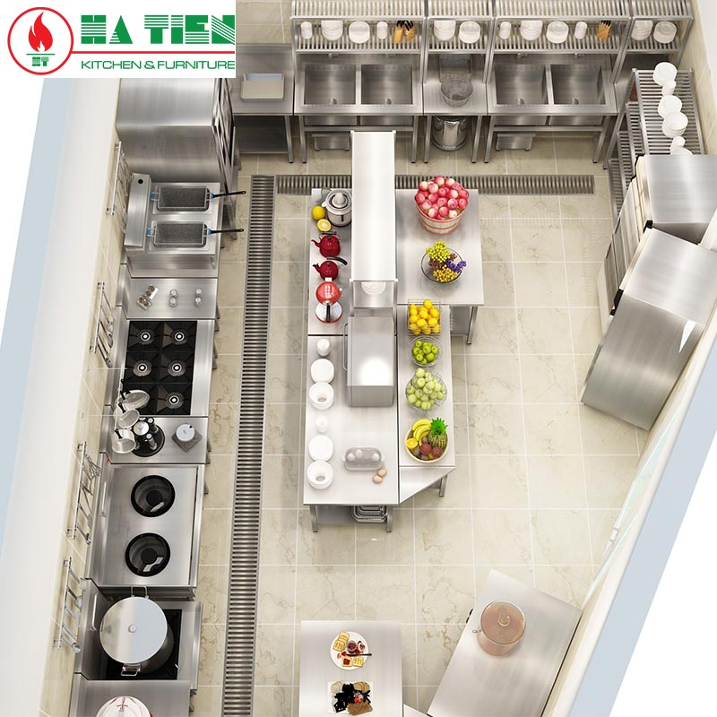 thiết kế bếp ăn công nghiệp