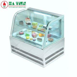 Tủ bánh kem mini để bàn - Tủ bánh kem kính cong nhỏ