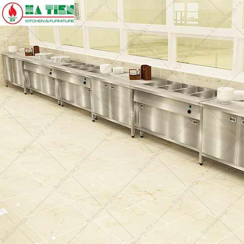 Thiết bị bếp công nghiệp -quầy giữ nóng thức ăn