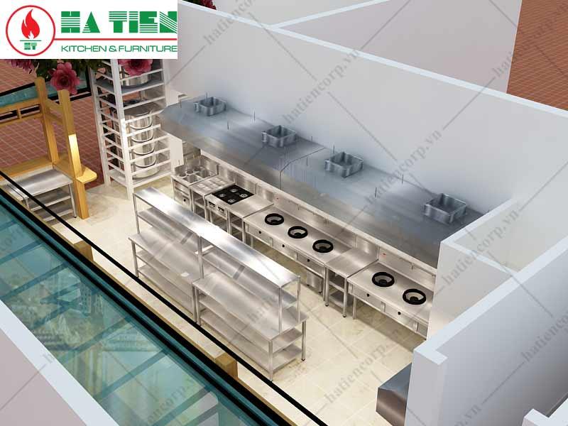 bếp á công nghiệp nhà hàng