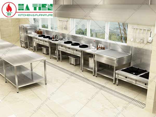 Nhà hàng món á với bếp á và bếp hầm