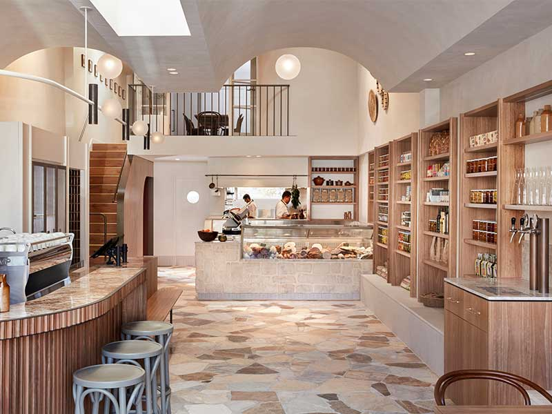 Khu bếp với chất liệu gỗ thanh lịch và đẹp mắt