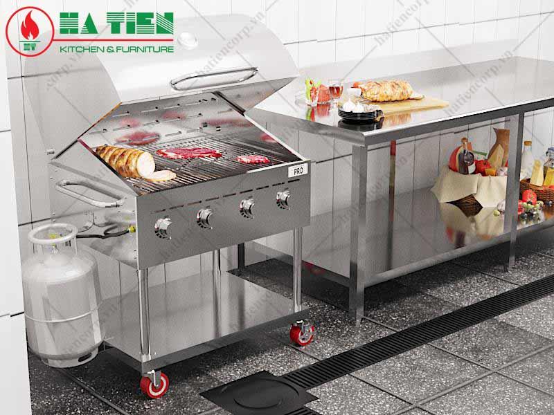 Bếp nướng công nghiệp trong nhà hàng