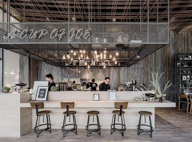 Mẫu quầy bar đẹp quán cafe