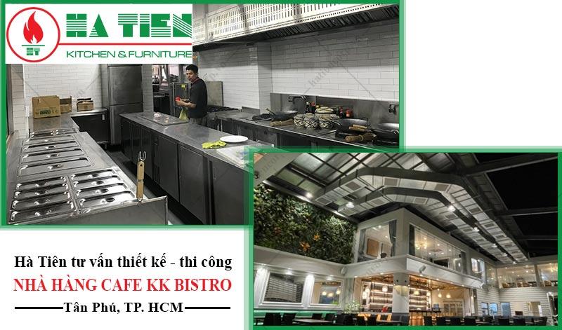thiết kế bếp nhà hàng cafe