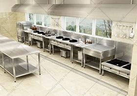 nhà thầu thiết kế bếp công nghiệp Hà Tiên