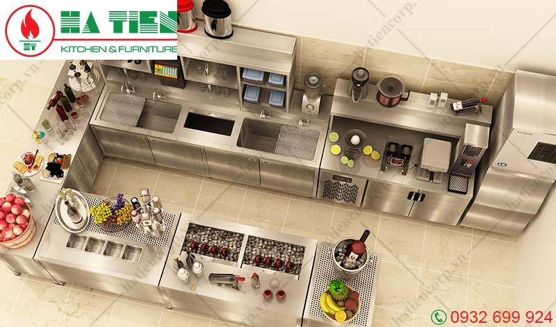 Mẫu thiết kế quầy bar cafe hình chữ U